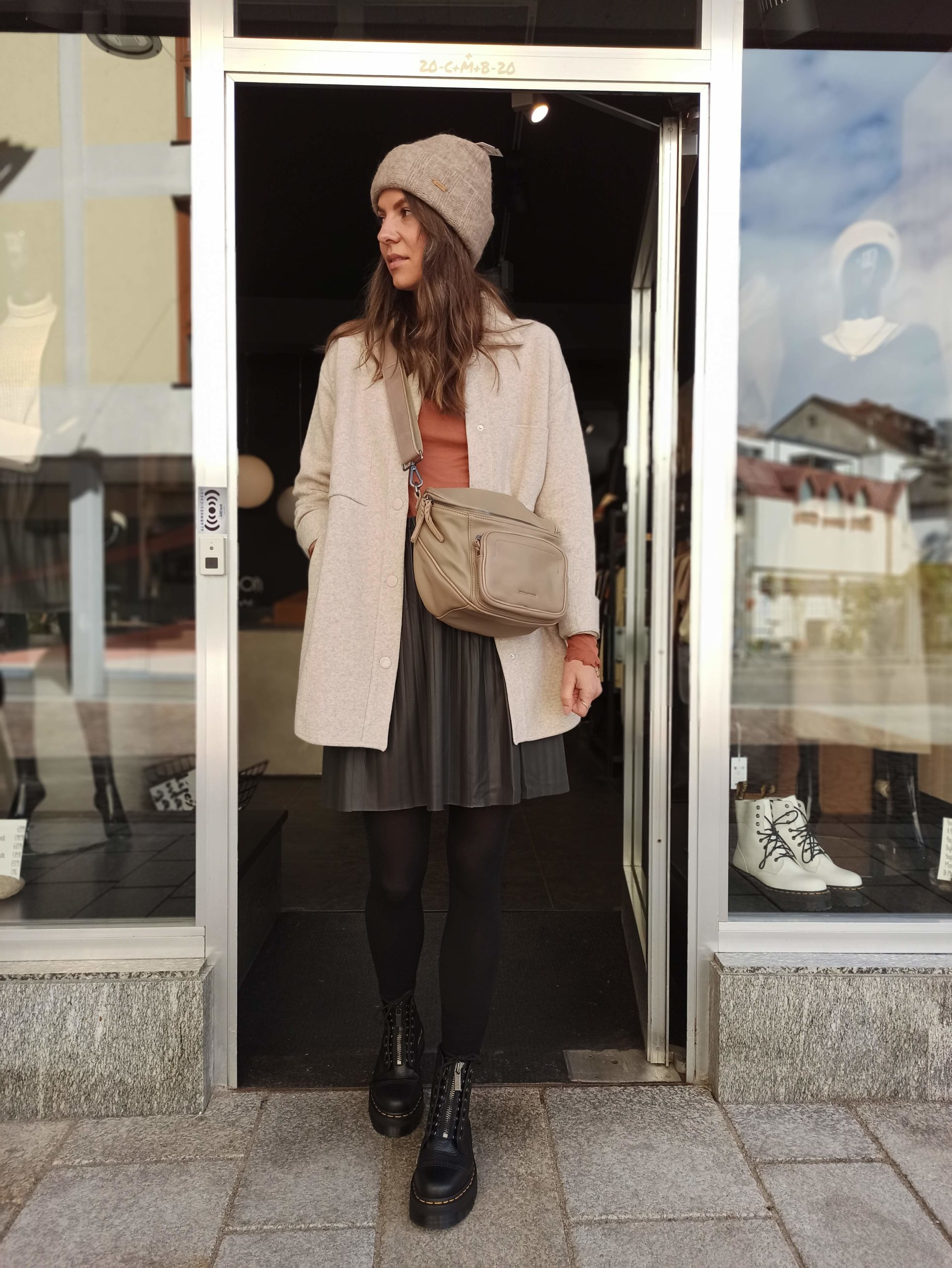 YAYA Rock aus Kunstleder Grey - Zanon Style Lienz