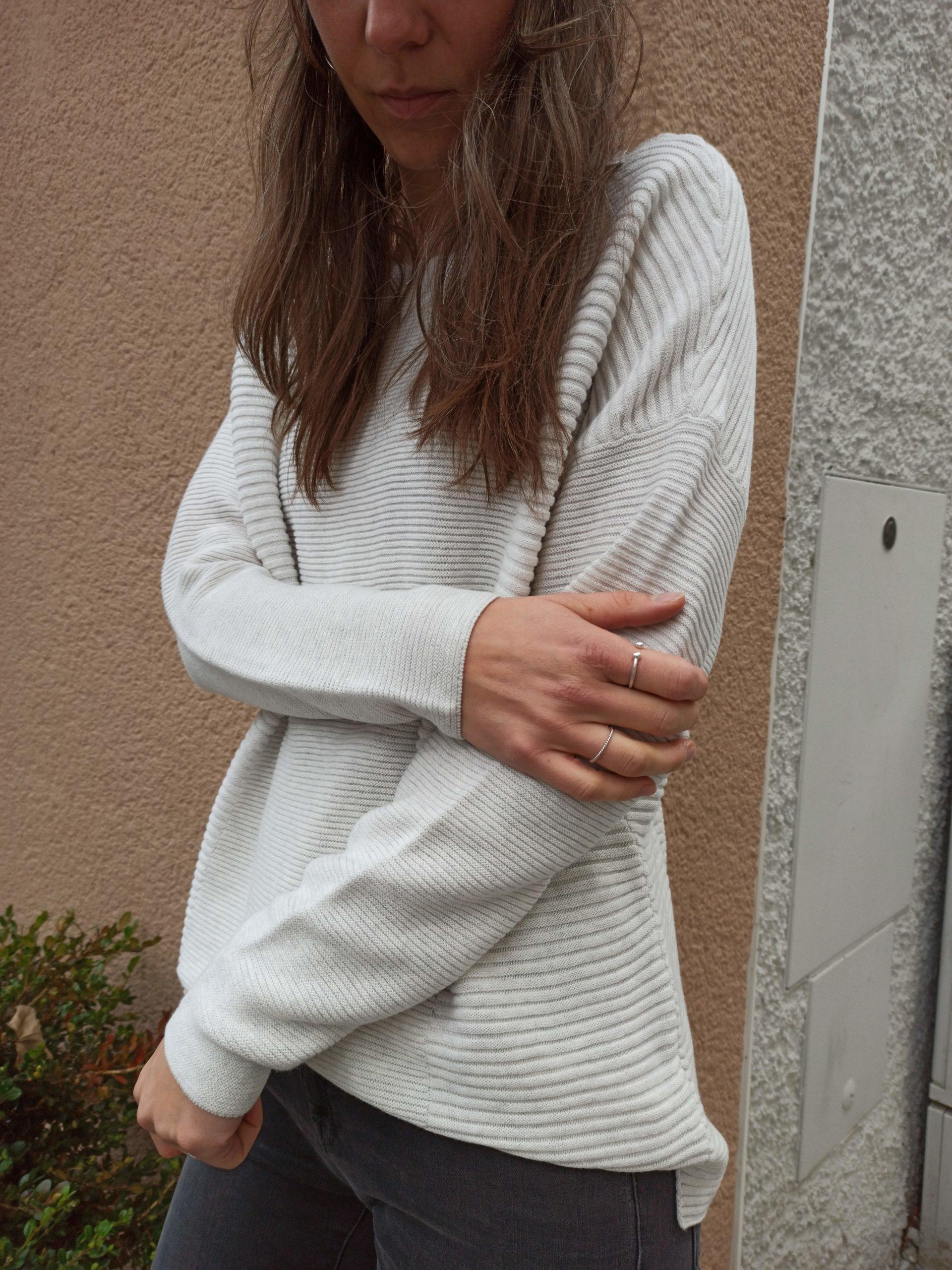 YAYA Pullover Baumwolle Light Grey Melange - Zanon Style Lienz
